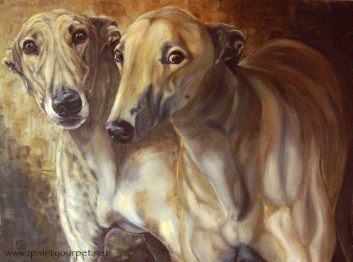 'Friends in Need' Painting by Gabriele - www.ipaintyourpet.net